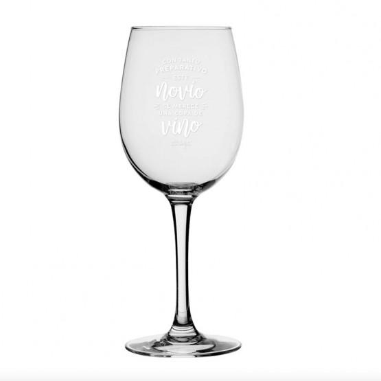 copa de vino este novio se merece una copa
