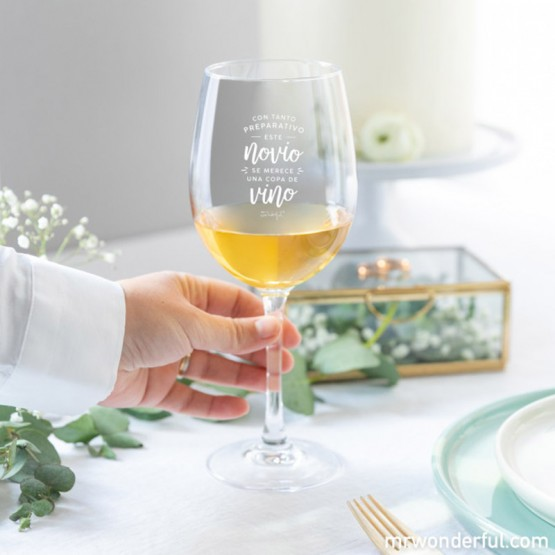 copa de vino con mensaje original