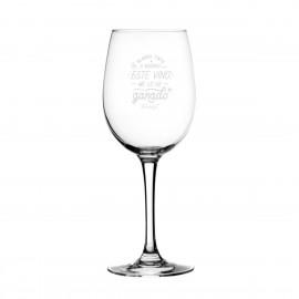 Copa de vino blanco, tinto o rosado ¡Este vino me lo he ganado!