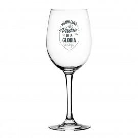 """Copa de vino """"Padre en la gloria"""""""