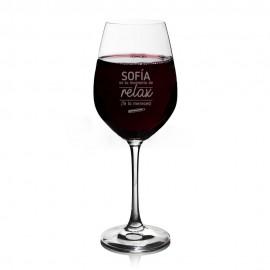 copa vino profe personalizada