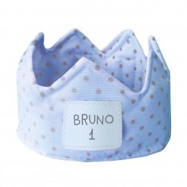 Corona cumpleaños personalizada azul