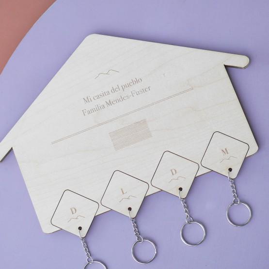 cuelga llaves personalizado familia