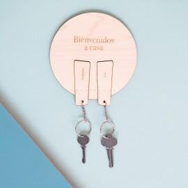 cuelga llaves madera personalizado