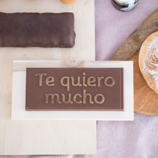 chocolate mensaje te quiero