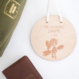 Dibujo personalizado en madera