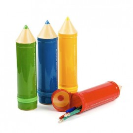 estuches lápices colores