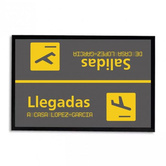 Felpudo aeropuerto personalizado