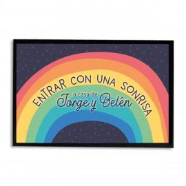 Felpudo arcoiris personalizado
