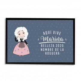 Felpudo Belleza Hogueras San Juan