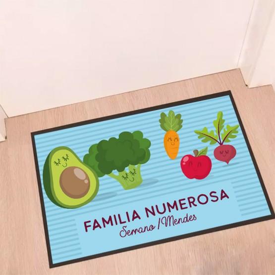 Felpudo familia numerosa vegetales