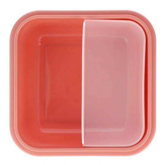 fiambrera rosa compartimento