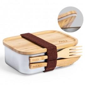 fiambrera bambu personalizada