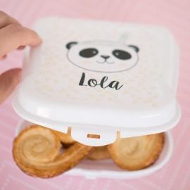 Fiambrera personalizada panda