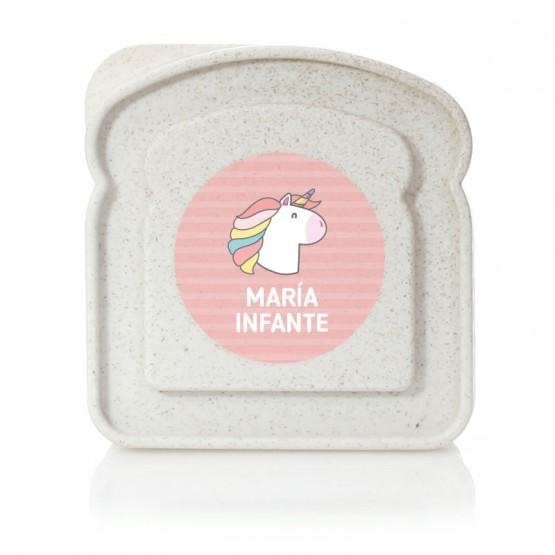 fiambrera personalizada unicornio