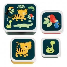 Set fiambreras infantiles jungla