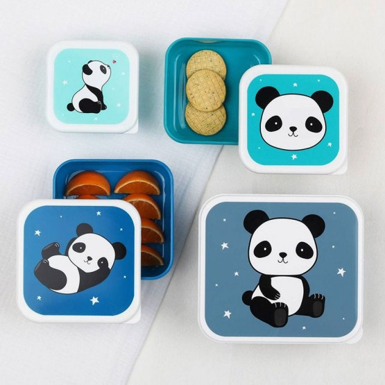 4 fiambreras panda