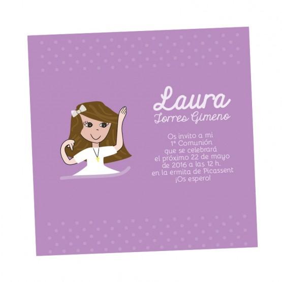 tarjeta comunion niña