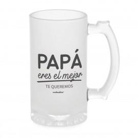 jarra de cerveza papa eres el mejor