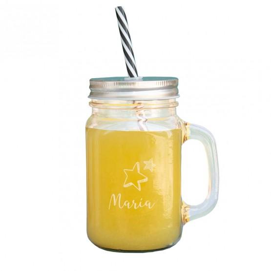 jarra con pajita personalizada