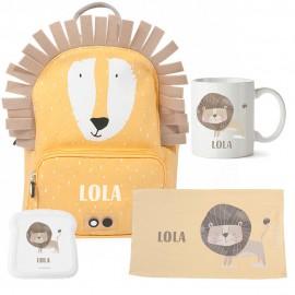 Kit escolar personalizado león