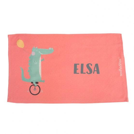 toalla personalizada guardería cocodrilo