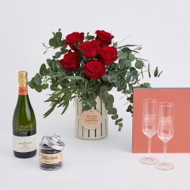 kit romántico flores pareja