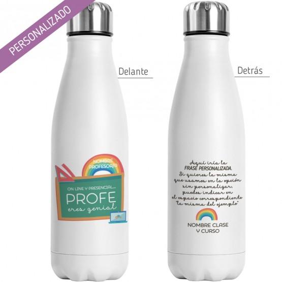 botella reutilizable profesora personalizada