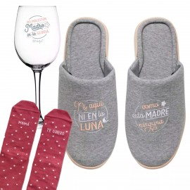 Kit regalo Día Madre Copa + Zapatillas + calcetines