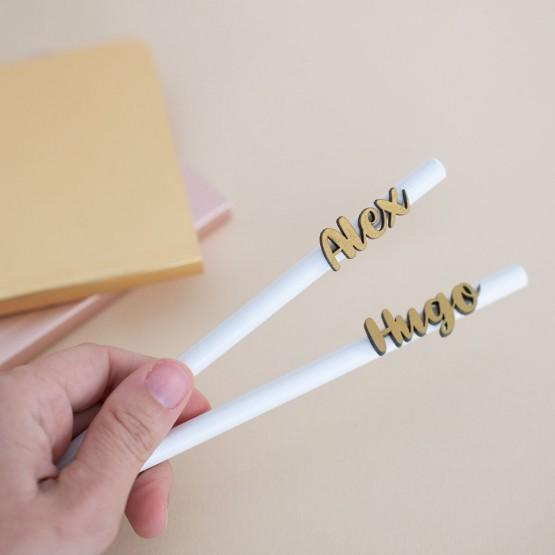 lápices personalizados dorados