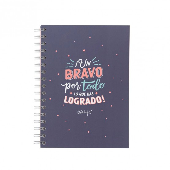 libreta tapa dura mr wonderful