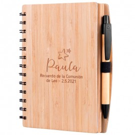 libreta madera personalizada