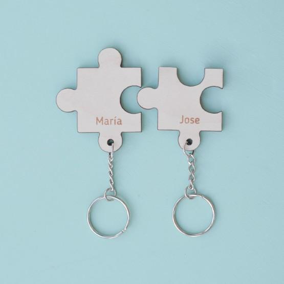 llavero puzzle personalizado