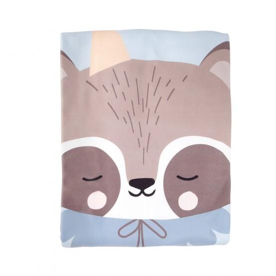 Manta polar personalizada mapache
