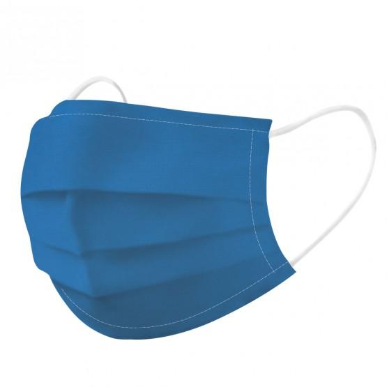 mascarilla azul medio