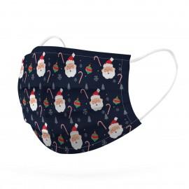 Mascarilla estampado Santa Claus