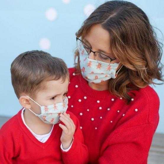 mascarillas navidad familias