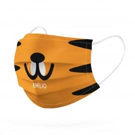 Mascarilla personalizada reutilizable tigre