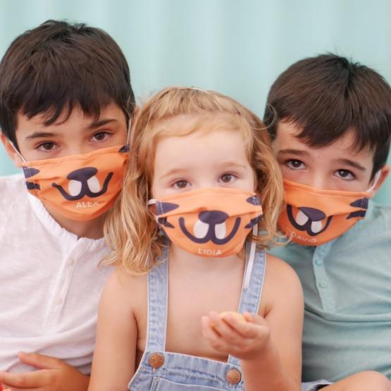 Mascarilla niños personalizada