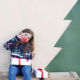 mascarilla reno navidad