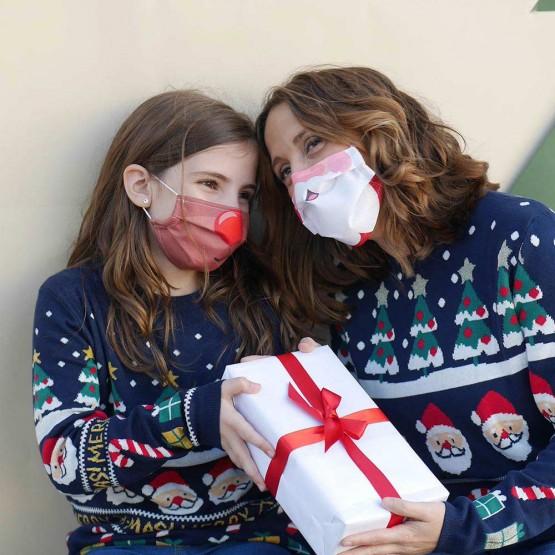mascarillas familiares navidad