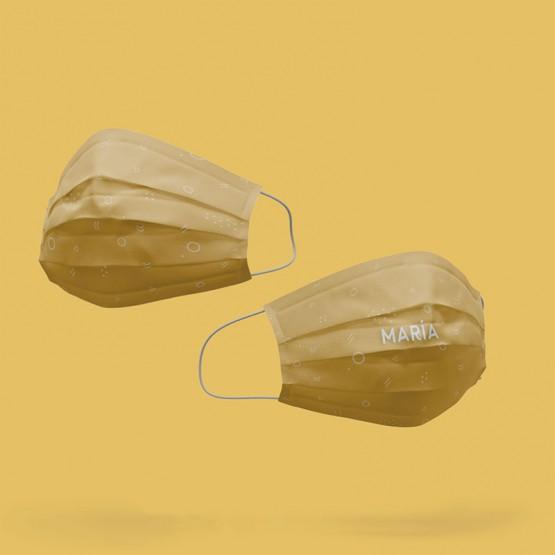 mascarilla estampado amarillo reutilizable