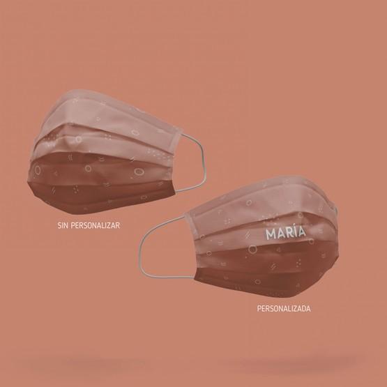 mascarilla reutilizable colo maquillaje con estampado homologada
