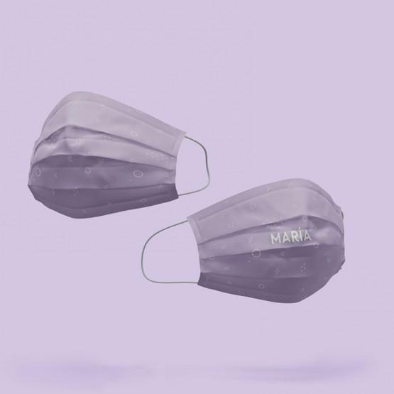 mascarilla reutilizable de tela con estampado color morado