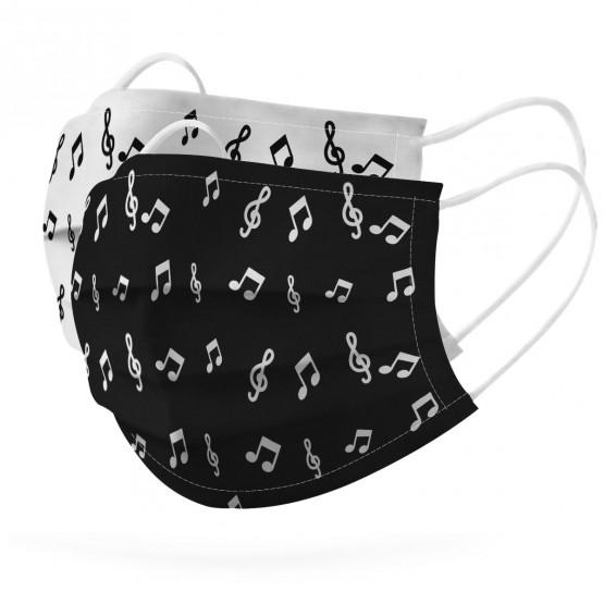 mascarillas notas musicales