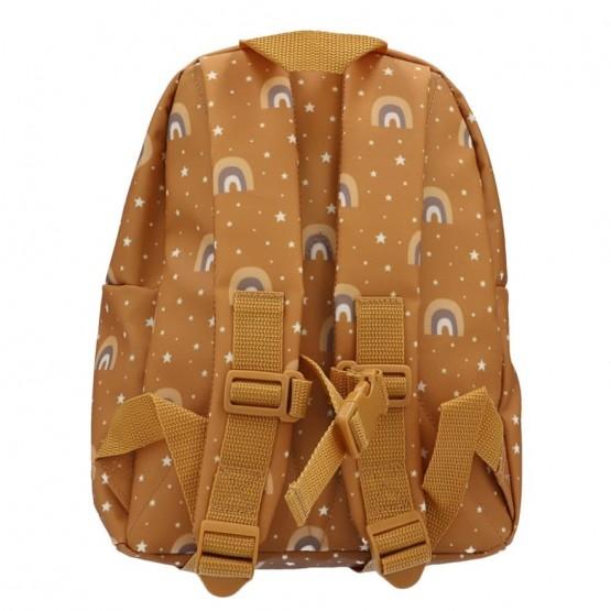 mochila para la guarderia mostaza