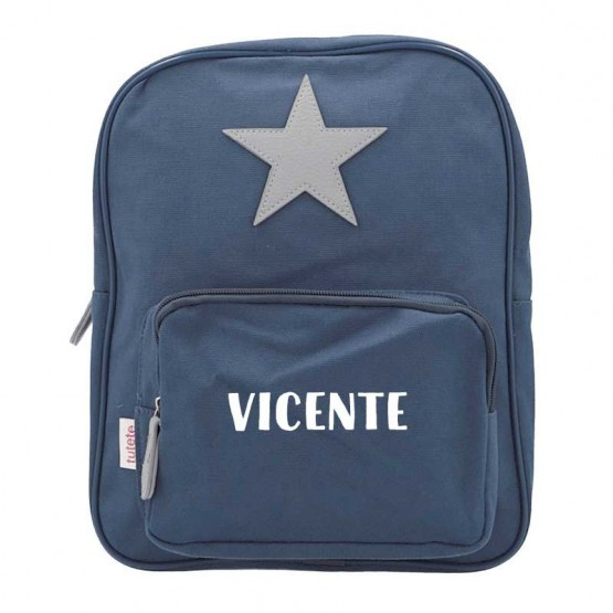 mochila infantil azul marino