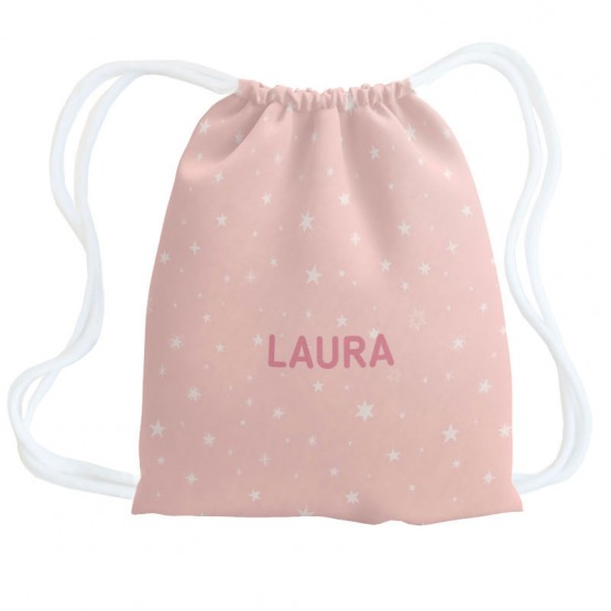 mochila estrellas rosa