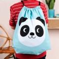 mochila saco panda con nombre
