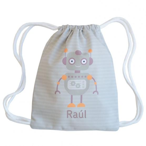 mochila saco robot